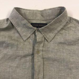 BANANA REPUBLIC Mens Tall Large Linen Oxford Shirt